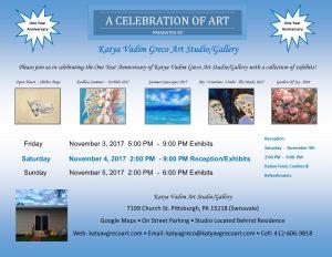 A Celebration Of Art - One Year Anniversary by Katya Vadim Greco Art!