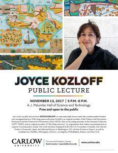 Joyce Kozloff Artist Lecture