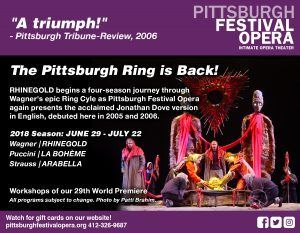 Pittsburgh Festival Opera 41st Season