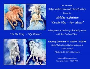"""Holiday Exhibition """"On the Way-My Horses"""""""