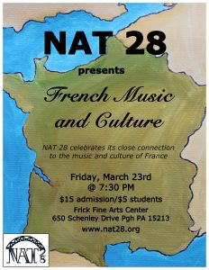 NAT 28 Presents French Music and Culture