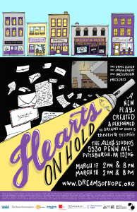 Hearts on Hold, a new play created and performed by theatriQ Youth Ensemble