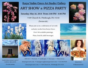 Art Show & Pizza Party - Katya Vadim Greco Art