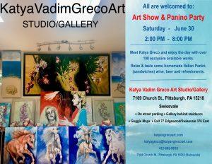 Art Show & Panino Party-Katya Vadim Greco Art Studio/Gallery