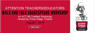 Walk and Talk Shakespeare Workshop