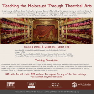 Teaching the Holocaust Through Theatrical Arts