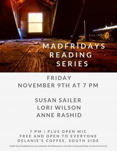 MadFridays Reading Series: Susan Shaw Sailer, Lori Wilson, Anne Rashid