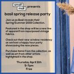 Basil Spring Release Party