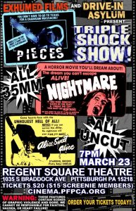 Triple Shock Show with Pieces, Alice Sweet Alice and Nightmare