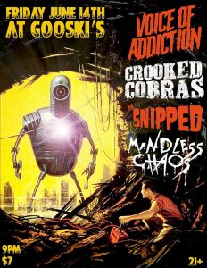Voice of Addiction (CHI), Crooked Cobras , The Snipped , Mindless Chaos