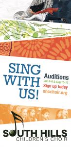South Hills Children's Choir 2019-2020 Auditions
