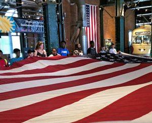 Independence Day Flag Folding