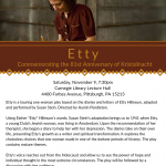 Etty: Commemorating the 81st Anniversary of Kristallnacht