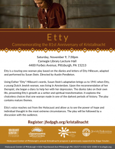 Etty: Commemorating the 81st Anniversary of Krista...