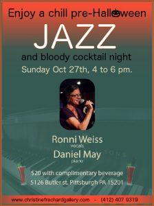 Pre-Halloween Jazz & bloody cocktail night