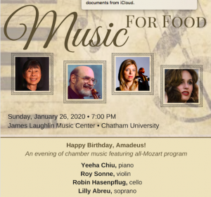 Music for Food: Happy Birthday Amadeus!