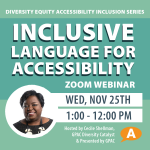 DEAI Lunch and Learn Series: Inclusive Language for Accessibility