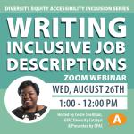 DEAI Lunch & Learn: Writing Inclusive Job Descriptions