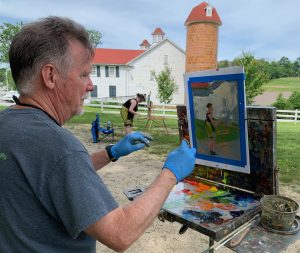 Plein Air Painting along the Historic National Roa...