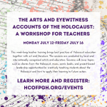 The Arts and Eyewitness Accounts of the Holocaust: A Workshop for Teachers