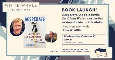 "Virtual Book Launch! ""Desperate"" by Kris Maher w/ John W. Miller"