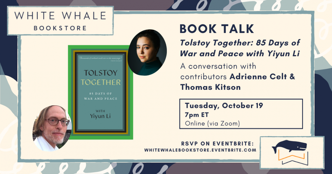 """Virtual Book Talk: """"Tolstoy Together"""" w/ Contribut..."""